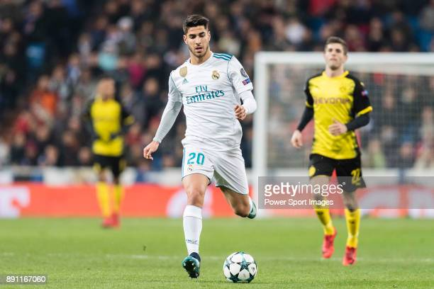 Marco Asensio of Real Madrid in action during the Europe Champions League 201718 match between Real Madrid and Borussia Dortmund at Santiago Bernabeu...