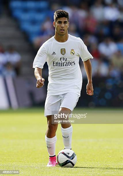 Marco Asensio of Real Madrid in action during the preseason friendly match between Valerenga and Real Madrid at Ullevaal Stadion on August 9 2015 in...