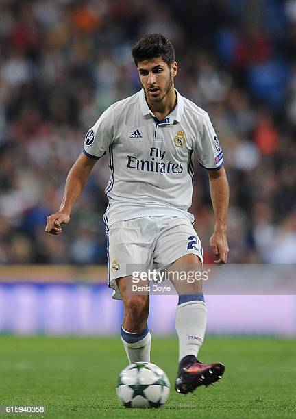 Marco Asensio of Real Madrid in action during the UEFA Champions League Group F match between Real Madrid CF and Legia Warszawa at Santiago Bernabeu...
