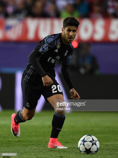 Marco Asensio of Real Madrid in action during the UEFA Champions League Semi Final second leg match between Club Atletico de Madrid and Real Madrid...