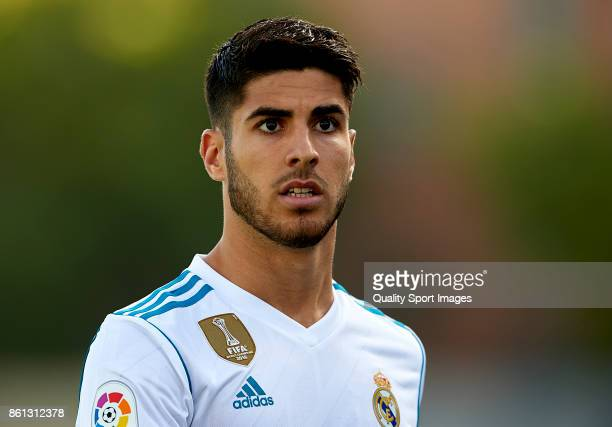 Marco Asensio of Real Madrid looks on prior to the La Liga match between Getafe and Real Madrid at Estadio Coliseum Alfonso Perez on October 14 2017...