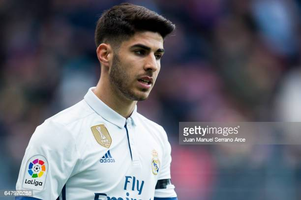 Marco Asensio of Real Madrid reacts during the La Liga match between SD Eibar and Real Madrid at Ipurua Municipal Stadium on March 4 2017 in Eibar...