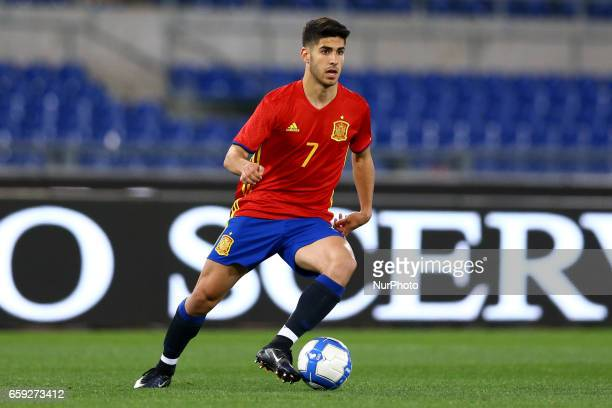 Marco Asensio of Spain at Olimpico Stadium in Rome Italy on March 27 2017