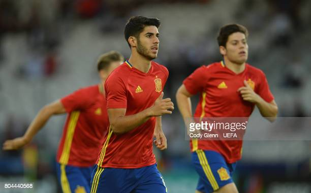 Marco Asensio of Spain before the UEFA European Under21 Championship 2017 final match against Germany on June 30 2017 in Krakow Poland