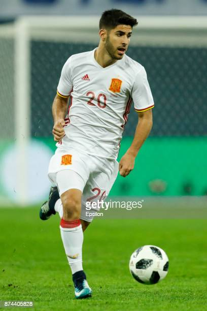 Marco Asensio of Spain during Russia and Spain International friendly match on November 14 2017 at Saint Petersburg Stadium in Saint Petersburg Russia