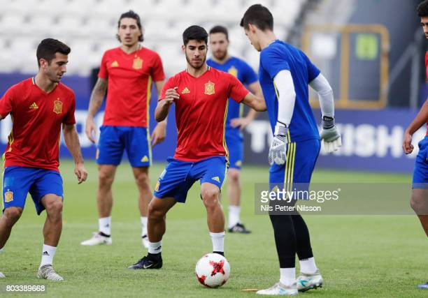 Marco Asensio of Spain during the Spain U21 national team training at Krakow Stadium on June 29 2017 in Krakow Poland