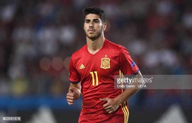 Marco Asensio of Spain during their UEFA European Under21 Championship 2017 semifinal match against Italy on June 27 2017 in Krakow Poland