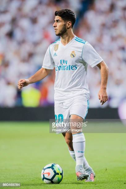 Marco Asensio Willemsen of Real Madrid in action during the La Liga 201718 match between Real Madrid and RCD Espanyol at Estadio Santiago Bernabeu on...