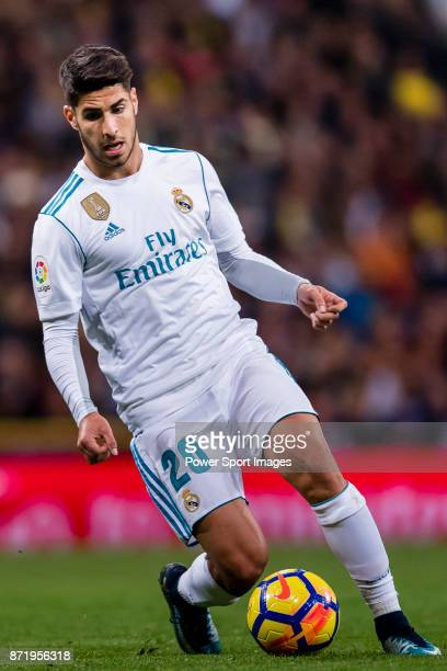 Marco Asensio Willemsen of Real Madrid in action during the La Liga 201718 match between Real Madrid and UD Las Palmas at Estadio Santiago Bernabeu...