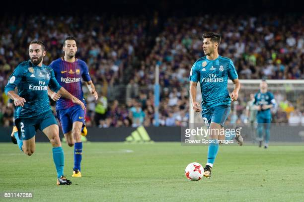 Marco Asensio Willemsen of Real Madrid in action during the Supercopa de Espana Final 1st Leg match between FC Barcelona and Real Madrid at Camp Nou...
