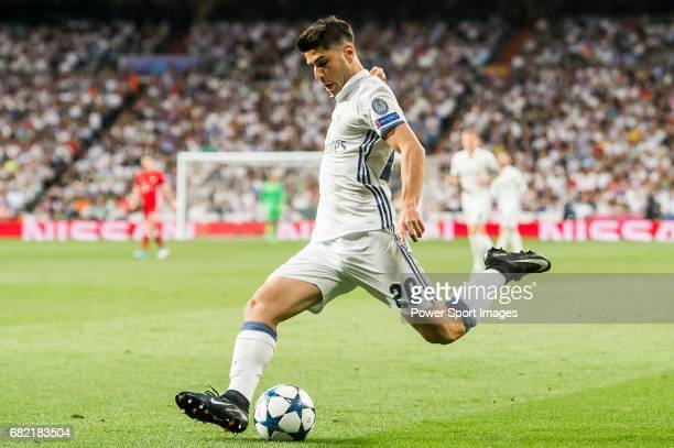 Marco Asensio Willemsen of Real Madrid in action during their 201617 UEFA Champions League Quarterfinals second leg match between Real Madrid and FC...