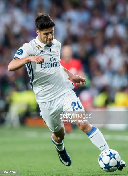 Marco Asensio Willemsen of Real Madrid in action during their 201617 UEFA Champions League Semifinals 1st leg match between Real Madrid and Atletico...