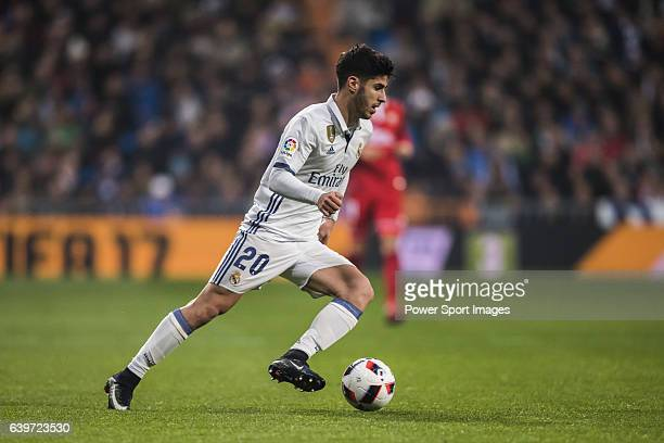 Marco Asensio Willemsen of Real Madrid in action during their Copa del Rey Round of 16 match between Real Madrid and Sevilla FC at the Santiago...