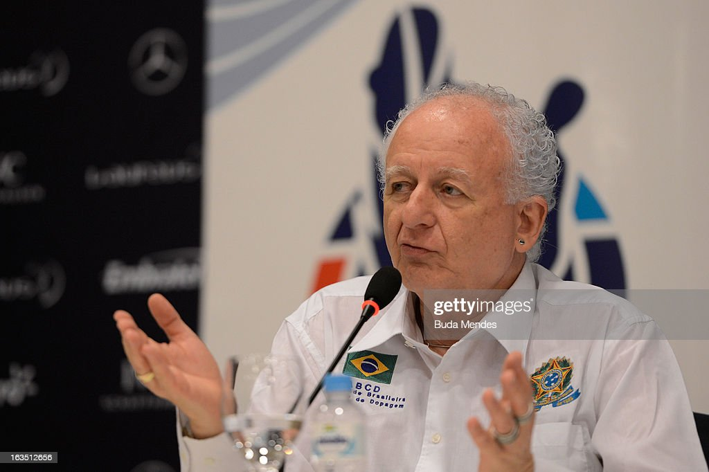 Marco Aurelio Klein, Brazil Anti-Doping attends the Laureus/AIPS Integrity In Sport Press Discusssion at the Windsor Atlantica during the 2013 Laureus World Sports Awards on March 11, 2013 in Rio de Janeiro, Brazil.