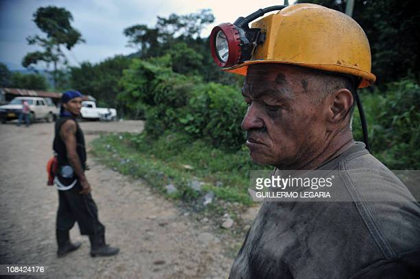 Marco Aurelio Salas a miner who survived the explotion of 'La Preciosa' coal mine walks in Corregimiento San Roque Sardinata municipality department...