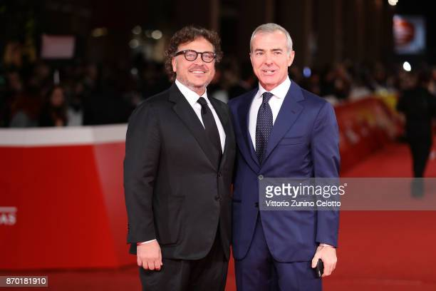 Marco Belardi and Giampaolo Letta walk a red carpet for 'The Place' during the 12th Rome Film Fest at Auditorium Parco Della Musica on November 4...