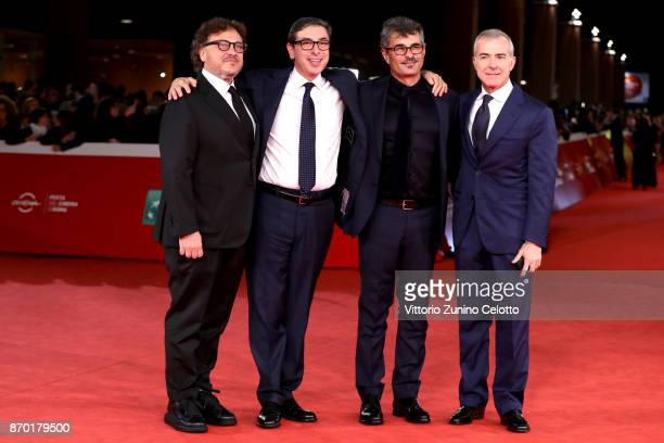 Marco Belardi Antonio Monda Paolo Genovese and Giampaolo Letta walk a red carpet for 'The Place' during the 12th Rome Film Fest at Auditorium Parco...