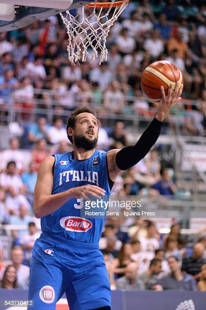 Marco Belinelli of Italy Basketball National Team in action during the friendly match between Italy and Canada at PalaDozza on June 26 2016 in...
