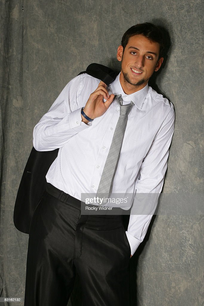 Marco Belinelli #18 of the Golden State Warriors poses for a portrait on October 6, 2008 at the Warriors practice facility in Oakland, California.