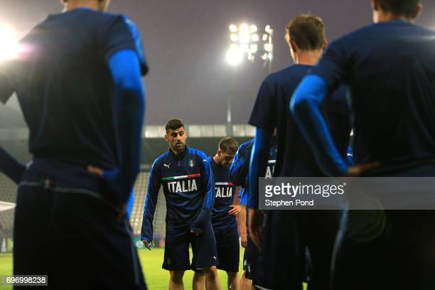 Marco Benassi Captain of Italy takes part during an Italy U21 Training Session at Stadium Krakow on June 17 2017 in Krakow Poland