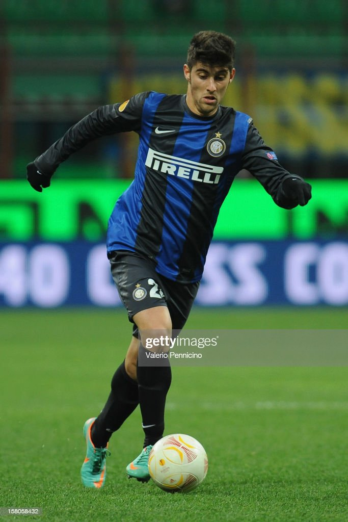 Marco Benassi of FC Internazionale Milano in action during the UEFA Europa League group H match between FC Internazionale Milano and Neftci PFK on December 6, 2012 in Milan, Italy.