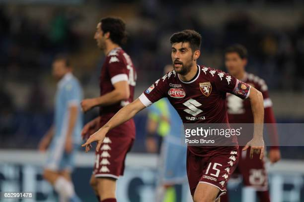 Marco Benassi of FC Torino gestures during the Serie A match between SS Lazio and FC Torino at Stadio Olimpico on March 13 2017 in Rome Italy