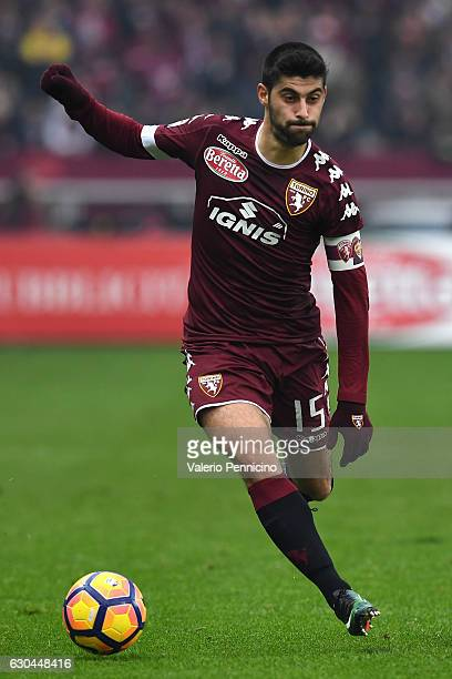 Marco Benassi of FC Torino in action during the Serie A match between FC Torino and Juventus FC at Stadio Olimpico di Torino on December 11 2016 in...