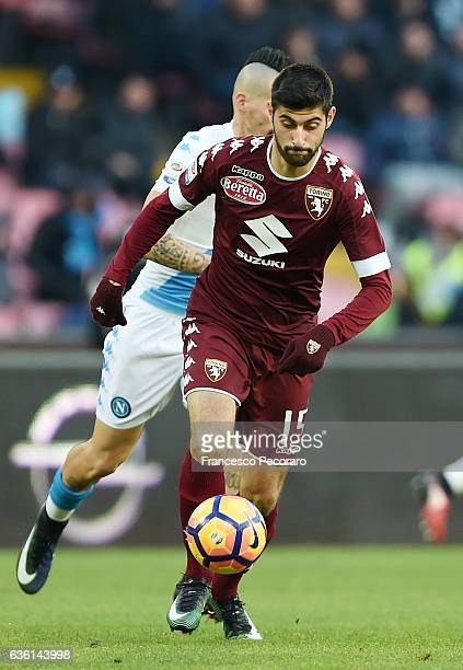 Marco Benassi of FC Torino in action during the Serie A match between SSC Napoli and FC Torino at Stadio San Paolo on December 18 2016 in Naples Italy