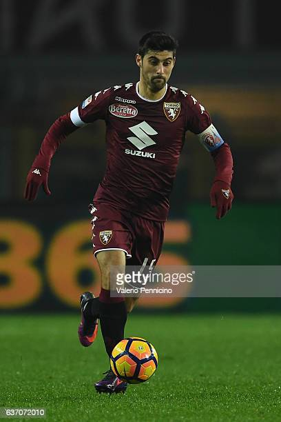 Marco Benassi of FC Torino in action during the Serie A match between FC Torino and Genoa CFC at Stadio Olimpico di Torino on December 22 2016 in...