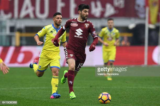 Marco Benassi of FC Torino in action during the Serie A match between FC Torino and Pescara Calcio at Stadio Olimpico di Torino on February 12 2017...