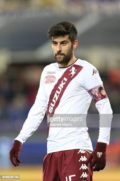 Marco Benassi of FC Torino in action during the Serie A match between ACF Fiorentina and FC Torino at Stadio Artemio Franchi on February 27 2017 in...
