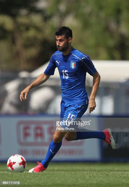 Marco Benassi of Italy in action during the Italy U21 training session at Fulvio Bernardini sport center on June 9 2017 in Rome Italy