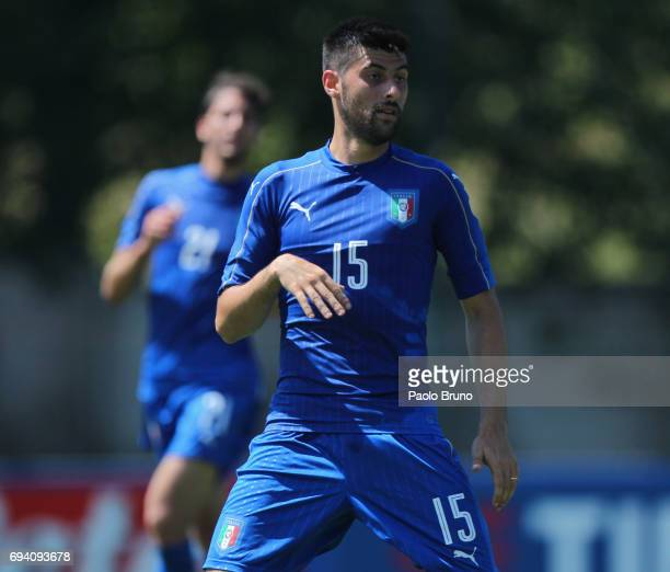 Marco Benassi of Italy looks on during the Italy U21 training session at Fulvio Bernardini sport center on June 9 2017 in Rome Italy