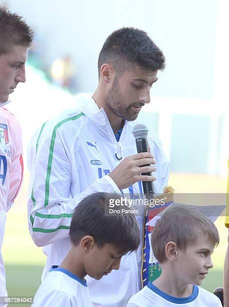 Marco Benassi of Italy U21 before the 2017 UEFA European U21 Championships Qualifier between Italy U21 and Slovenia U21 at Mapei Stadium Citta del...
