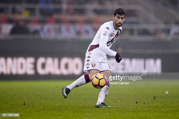 Marco Benassi of Torino FC in action during the Tim Cup football match between AC Milan and Torino FC AC Milan wins 21 over Torino FC