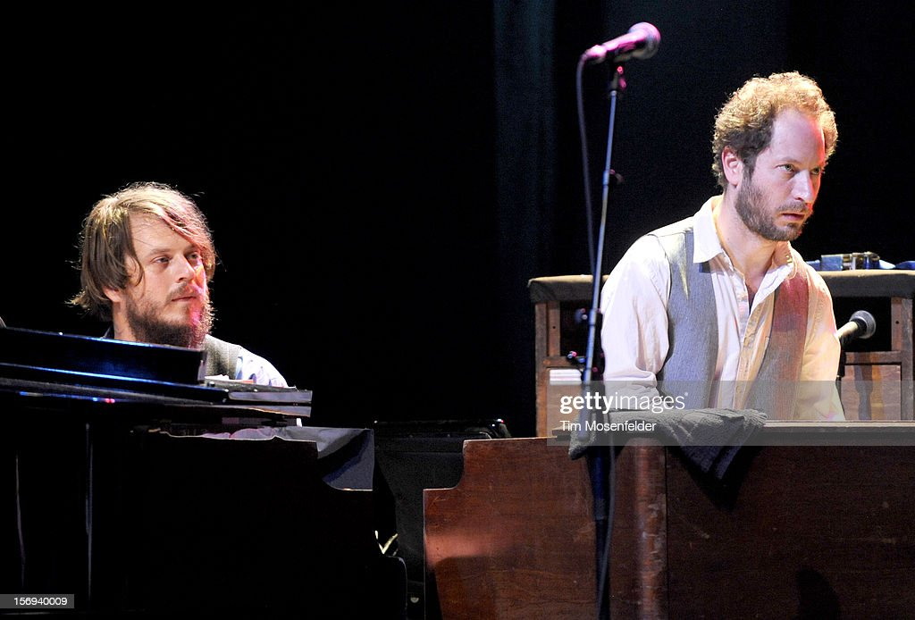 Marco Benevento (L) performs during The Last Waltz Tribute Concert at The Warfield on November 24, 2012 in San Francisco, California.