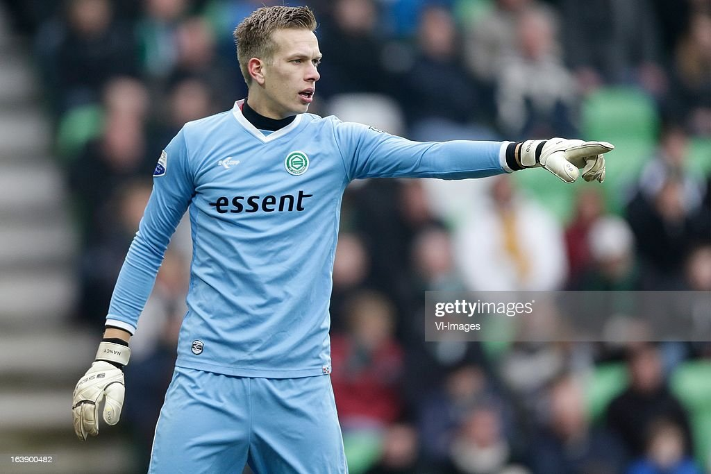 Marco Bizot of FC Groningen during the Dutch Eredivisie match between FC Groningen and FC Twente at the Euroborg Stadium on march 17, 2013 in Groningen, The Netherlands