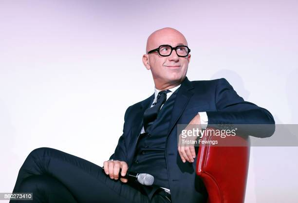 Marco Bizzarri on stage during the 2017 Kering Talk at the London College of Fashion on October 11 2017 in London England