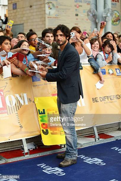 Marco Bocci attends Giffoni Film Festival blue carpet on July 21 2014 in Giffoni Valle Piana Italy