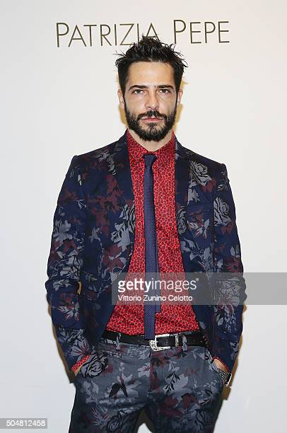 Marco Bocci attends 'Patrizia Pepe' Presentation on January 13 2016 in Florence Italy