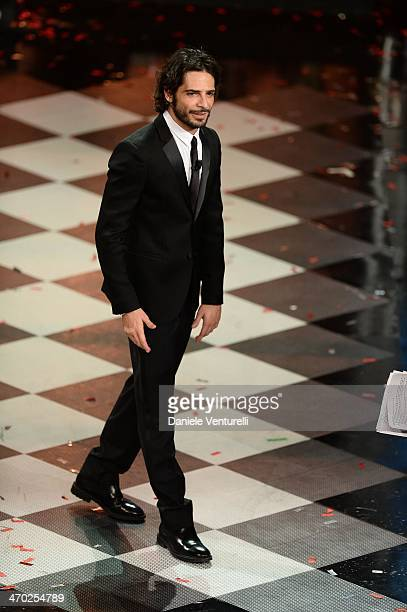 Marco Bocci attends the opening night of the 64th Festival di Sanremo 2014 at Teatro Ariston on February 18 2014 in Sanremo Italy