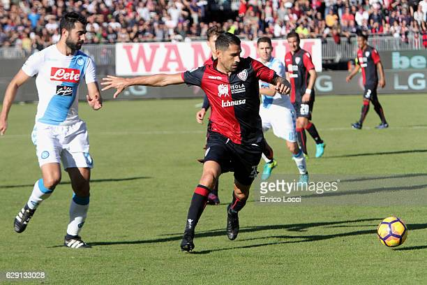 Marco Boriello of Cagliari in action during the Serie A match between Cagliari Calcio and SSC Napoli at Stadio Sant'Elia on December 11 2016 in...