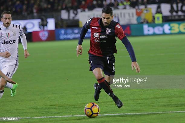 Marco Boriello of Cagliari in action during the Serie A match between Cagliari Calcio and Juventus FC at Stadio Sant'Elia on February 12 2017 in...