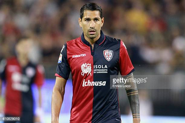 Marco Boriello of Cagliari looks on during the Serie A match between Cagliari Calcio and UC Sampdoria at Stadio Sant'Elia on September 26 2016 in...