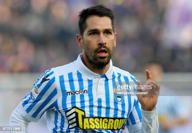 Marco Boriello of Spal looks on during the Serie A match between Spal and ACF Fiorentina at Stadio Paolo Mazza on November 19 2017 in Ferrara Italy