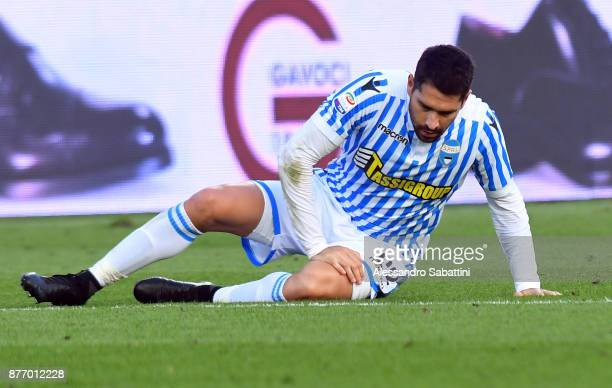 Marco Boriello of Spal reacts during the Serie A match between Spal and ACF Fiorentina at Stadio Paolo Mazza on November 19 2017 in Ferrara Italy