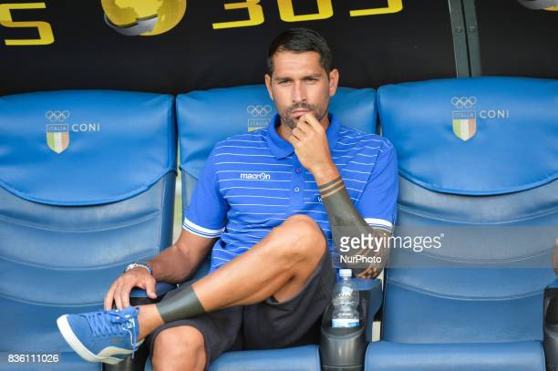 Marco Borriello during the Italian Serie A football match SS Lazio vs Spal at the Olympic Stadium in Rome august on 20 2017