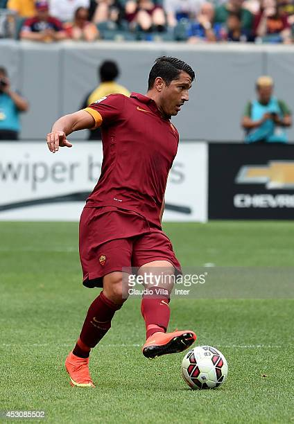 Marco Borriello of AS Roma in action during the International Champions Cup 2014 at Lincoln Financial Field on August 2 2014 in Philadelphia...