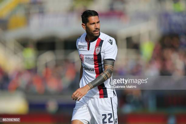 Marco Borriello of Cagliari Calcio in action during the Serie A match between ACF Fiorentina and Cagliari Calcio at Stadio Artemio Franchi on March...