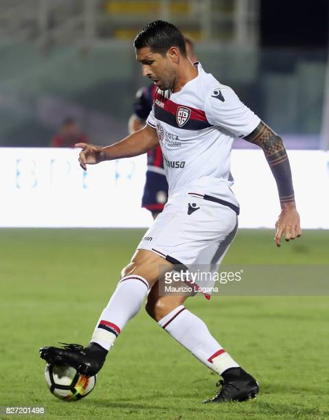 Marco Borriello of Cagliari during the PreSeason Friendly match between FC Crotone and Cagliari Calcio at Stadio Comunale Ezio Scida on August 5 2017...